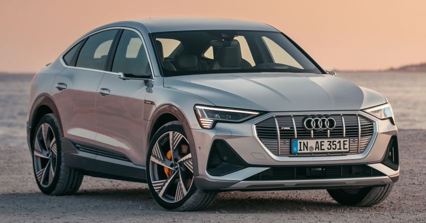 2020 Audi e-tron Sportback – sleek SUV coupe debuts with 355 hp, 561 Nm; 0-100 km/h in 6.6s, 446 km range Image #1048512