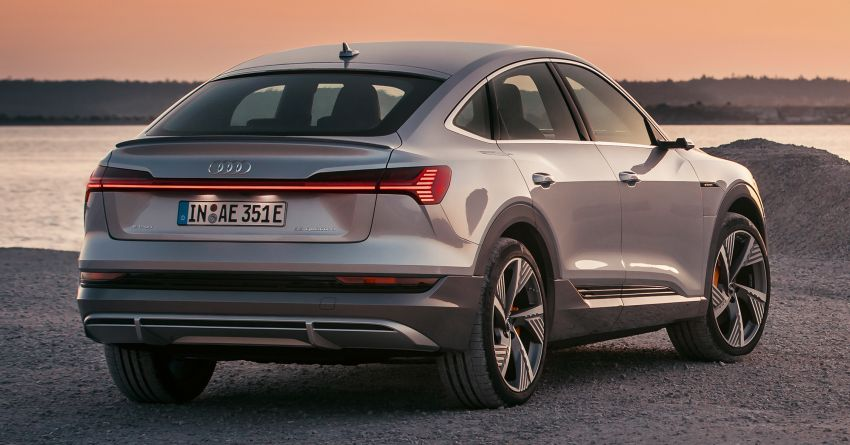 2020 Audi e-tron Sportback – sleek SUV coupe debuts with 355 hp, 561 Nm; 0-100 km/h in 6.6s, 446 km range Image #1048515