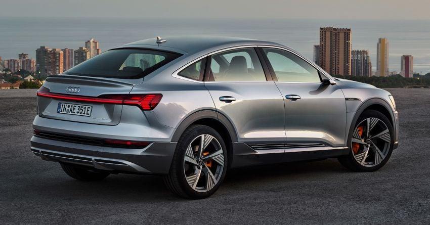 2020 Audi e-tron Sportback – sleek SUV coupe debuts with 355 hp, 561 Nm; 0-100 km/h in 6.6s, 446 km range Image #1048517