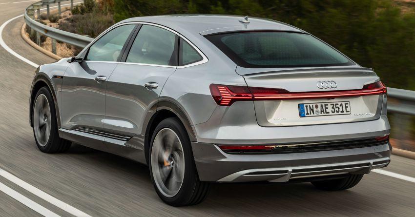 2020 Audi e-tron Sportback – sleek SUV coupe debuts with 355 hp, 561 Nm; 0-100 km/h in 6.6s, 446 km range Image #1048493