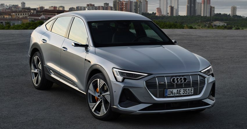 2020 Audi e-tron Sportback – sleek SUV coupe debuts with 355 hp, 561 Nm; 0-100 km/h in 6.6s, 446 km range Image #1048524