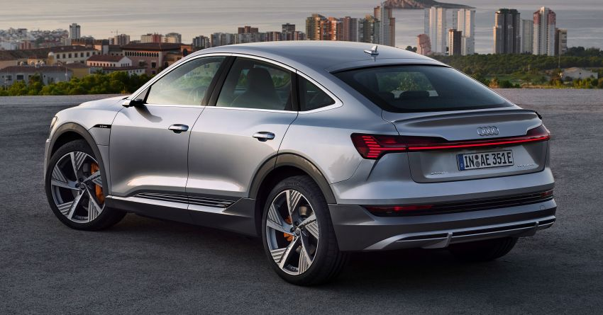 2020 Audi e-tron Sportback – sleek SUV coupe debuts with 355 hp, 561 Nm; 0-100 km/h in 6.6s, 446 km range Image #1048525