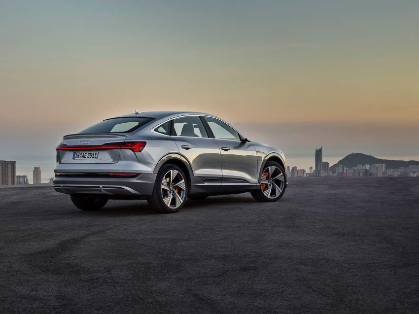 2020 Audi e-tron Sportback – sleek SUV coupe debuts with 355 hp, 561 Nm; 0-100 km/h in 6.6s, 446 km range Image #1048528