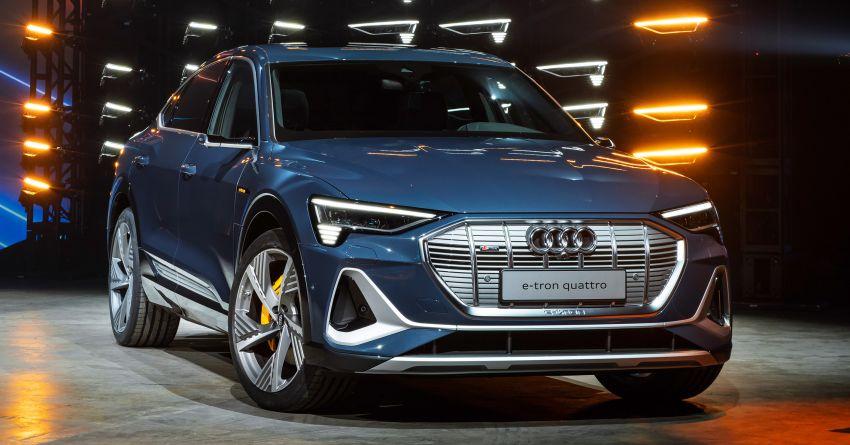 2020 Audi e-tron Sportback – sleek SUV coupe debuts with 355 hp, 561 Nm; 0-100 km/h in 6.6s, 446 km range Image #1048533