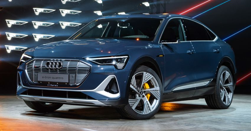 2020 Audi e-tron Sportback – sleek SUV coupe debuts with 355 hp, 561 Nm; 0-100 km/h in 6.6s, 446 km range Image #1048535