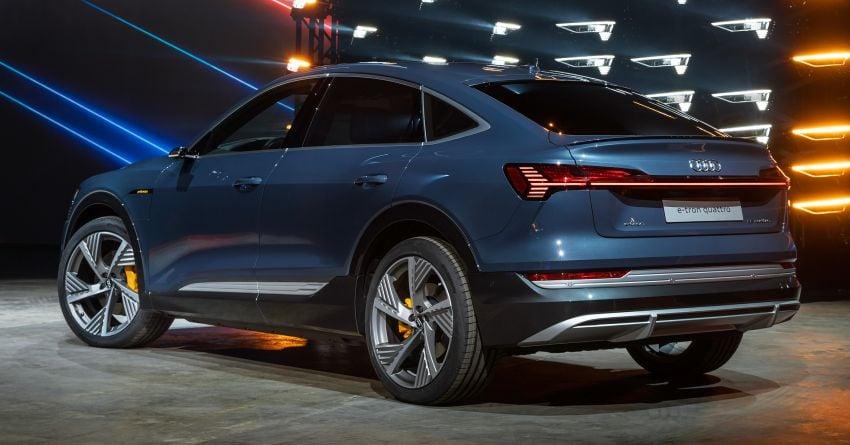2020 Audi e-tron Sportback – sleek SUV coupe debuts with 355 hp, 561 Nm; 0-100 km/h in 6.6s, 446 km range Image #1048536