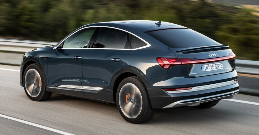 2020 Audi e-tron Sportback – sleek SUV coupe debuts with 355 hp, 561 Nm; 0-100 km/h in 6.6s, 446 km range Image #1048495