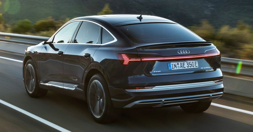 2020 Audi e-tron Sportback – sleek SUV coupe debuts with 355 hp, 561 Nm; 0-100 km/h in 6.6s, 446 km range Image #1048497