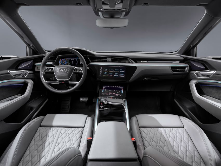 2020 Audi e-tron Sportback – sleek SUV coupe debuts with 355 hp, 561 Nm; 0-100 km/h in 6.6s, 446 km range Image #1048555