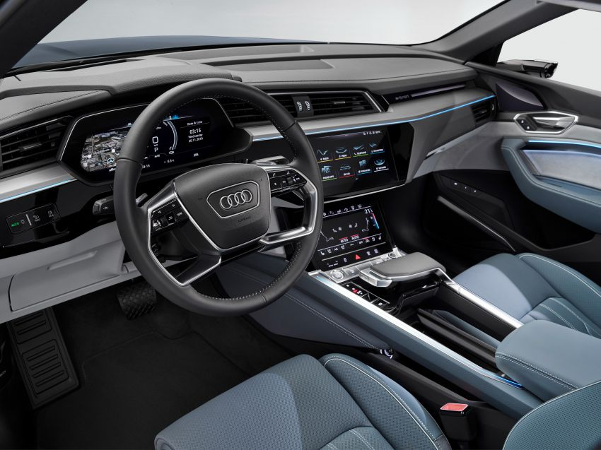 2020 Audi e-tron Sportback – sleek SUV coupe debuts with 355 hp, 561 Nm; 0-100 km/h in 6.6s, 446 km range Image #1048556