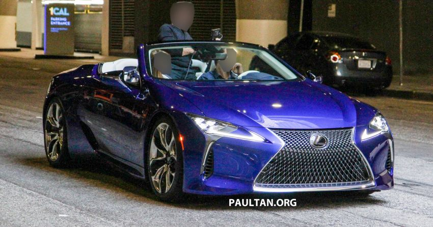 SPIED: Lexus LC Convertible seen during photoshoot! Image #1040027