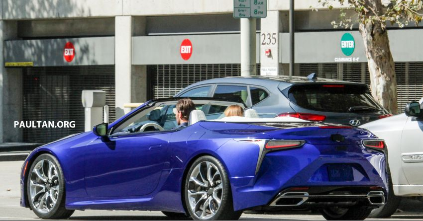 SPIED: Lexus LC Convertible seen during photoshoot! Image #1040028