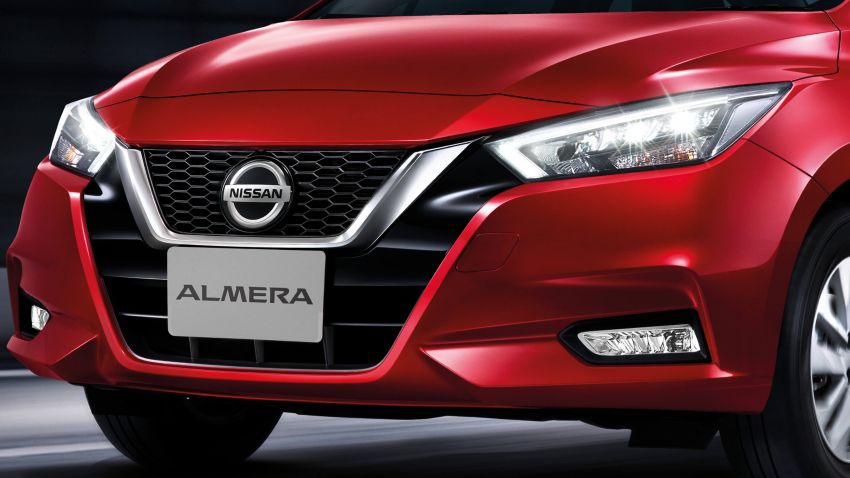 2020 Nissan Almera makes ASEAN debut, launched in Thailand: 1.0L turbo CVT, AEB, BSM, AVM, from RM69k Image #1046392