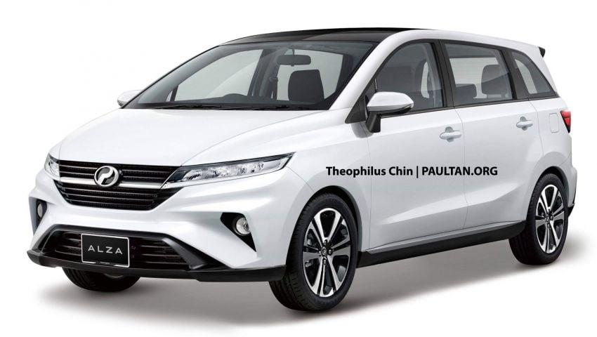 2021 Perodua Alza D27A – new next-gen MPV rendered Image #1049440
