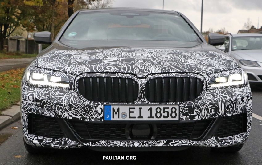 SPYSHOTS: G30 BMW 5 Series LCI with M Sport kit Image #1048202