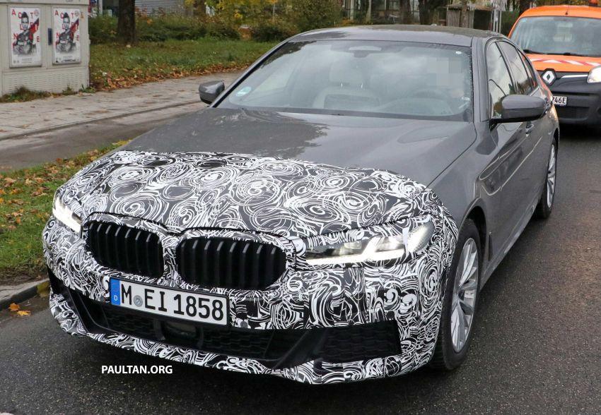 SPYSHOTS: G30 BMW 5 Series LCI with M Sport kit Image #1048205