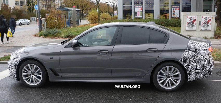 SPYSHOTS: G30 BMW 5 Series LCI with M Sport kit Image #1048208