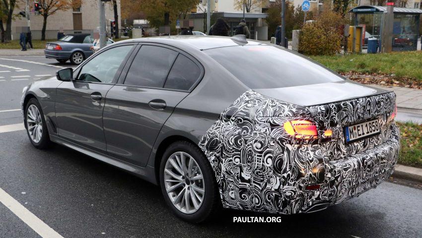 SPYSHOTS: G30 BMW 5 Series LCI with M Sport kit Image #1048209