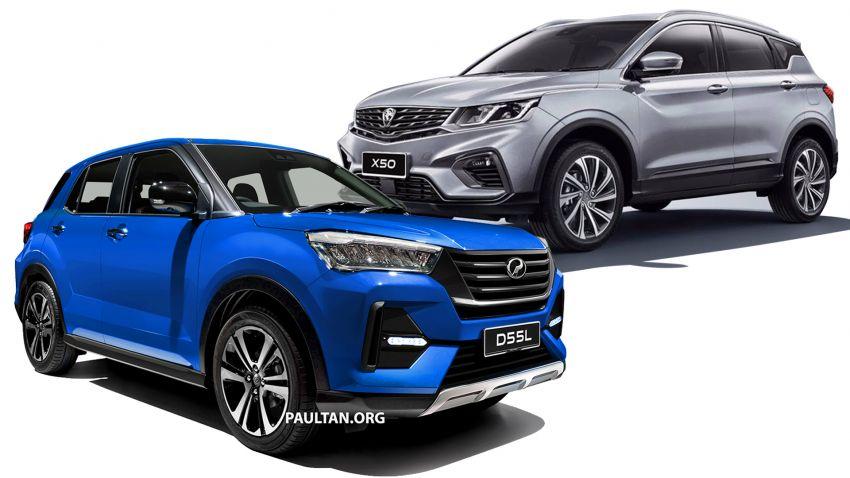 Perodua D55L SUV vs Proton X50 – we compare specs of Daihatsu Rocky/Toyota Raize and Geely Binyue Image #1040969