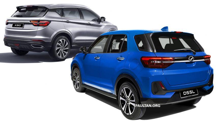 Perodua D55L SUV vs Proton X50 – we compare specs of Daihatsu Rocky/Toyota Raize and Geely Binyue Image #1041040