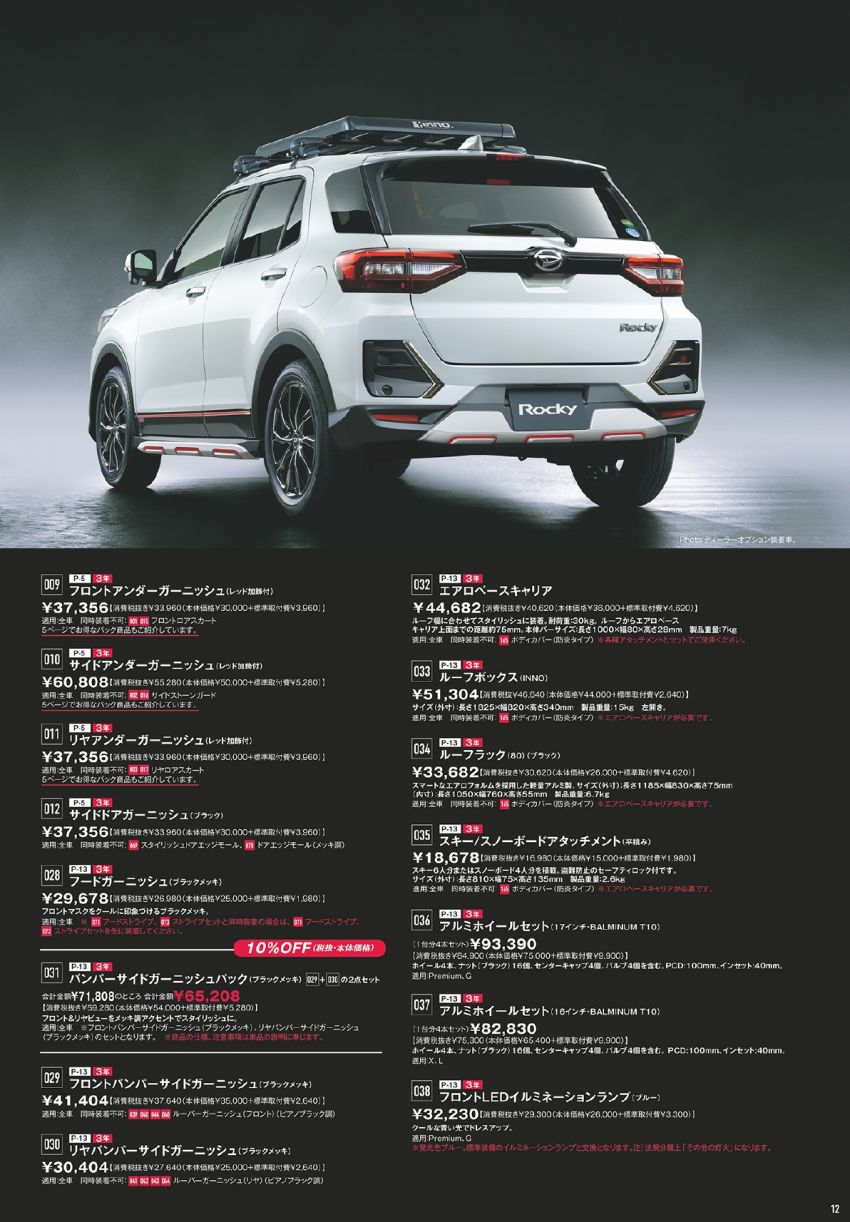 Daihatsu Rocky – official range of accessories out Image #1042641