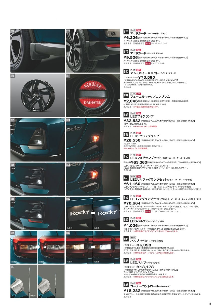 Daihatsu Rocky – official range of accessories out Image #1042647