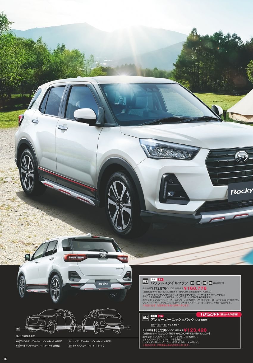 Daihatsu Rocky – official range of accessories out Image #1042634