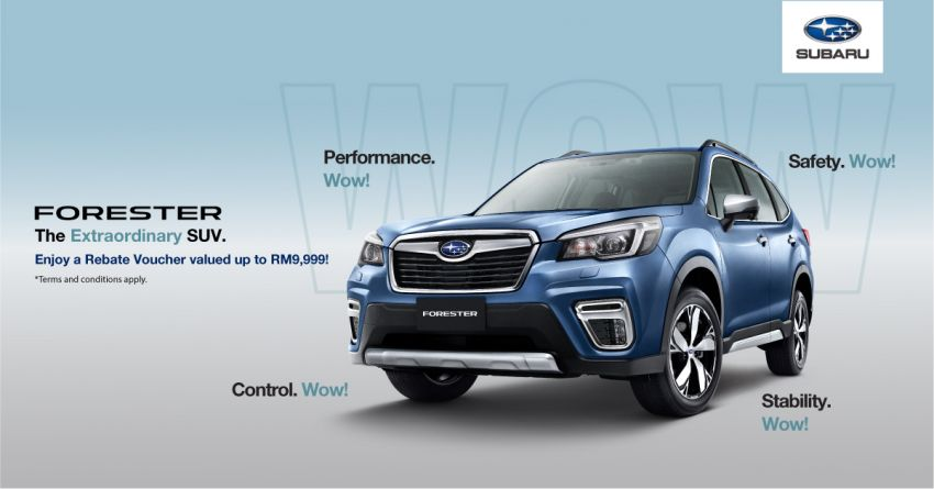 AD: Test drive and buy the all-new Subaru Forester and receive rebate vouchers worth up to RM9,999! Image #1041655