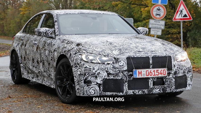 SPIED: G80 BMW M3 shows skin, hides massive grille Image #1046637