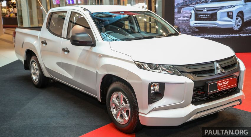 Mitsubishi Triton Quest facelift launched in Malaysia – low rider 4×2 workhorse gets Dynamic Shield, RM80k Image #1046307