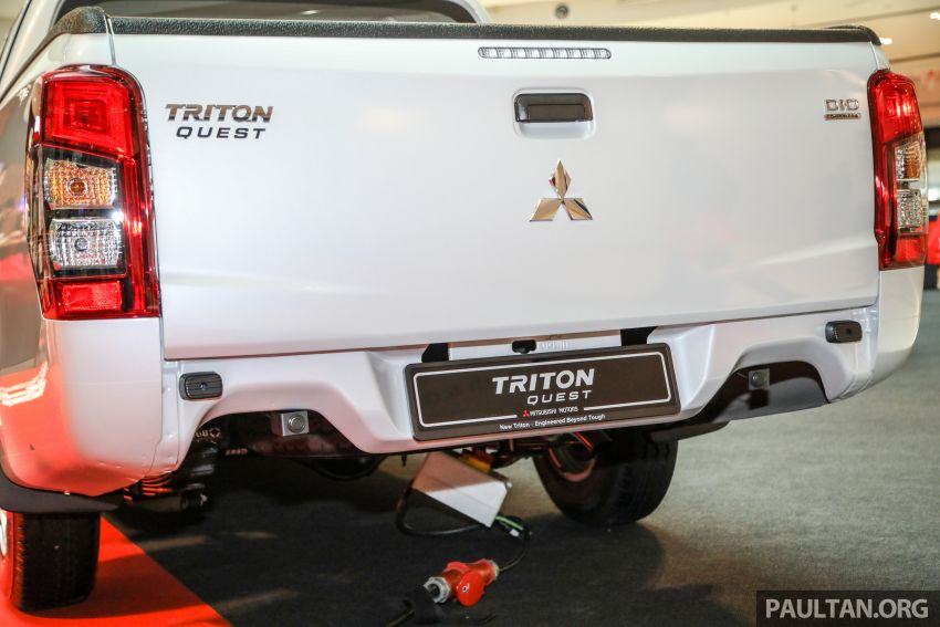 Mitsubishi Triton Quest facelift launched in Malaysia – low rider 4×2 workhorse gets Dynamic Shield, RM80k Image #1046326