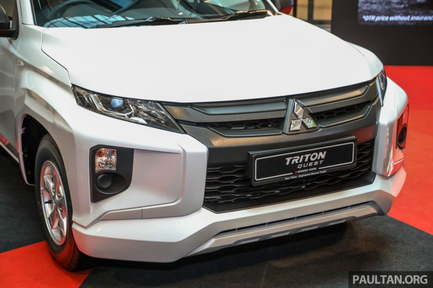 Mitsubishi Triton Quest facelift launched in Malaysia – low rider 4×2 workhorse gets Dynamic Shield, RM80k Image #1046309