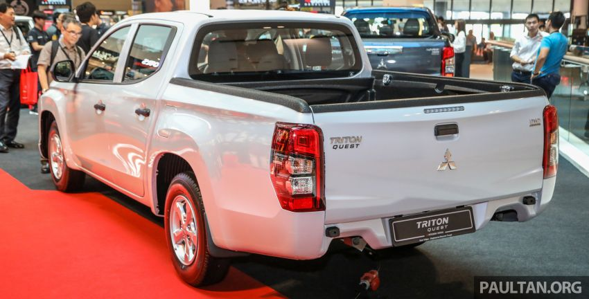 Mitsubishi Triton Quest facelift launched in Malaysia – low rider 4×2 workhorse gets Dynamic Shield, RM80k Image #1046310