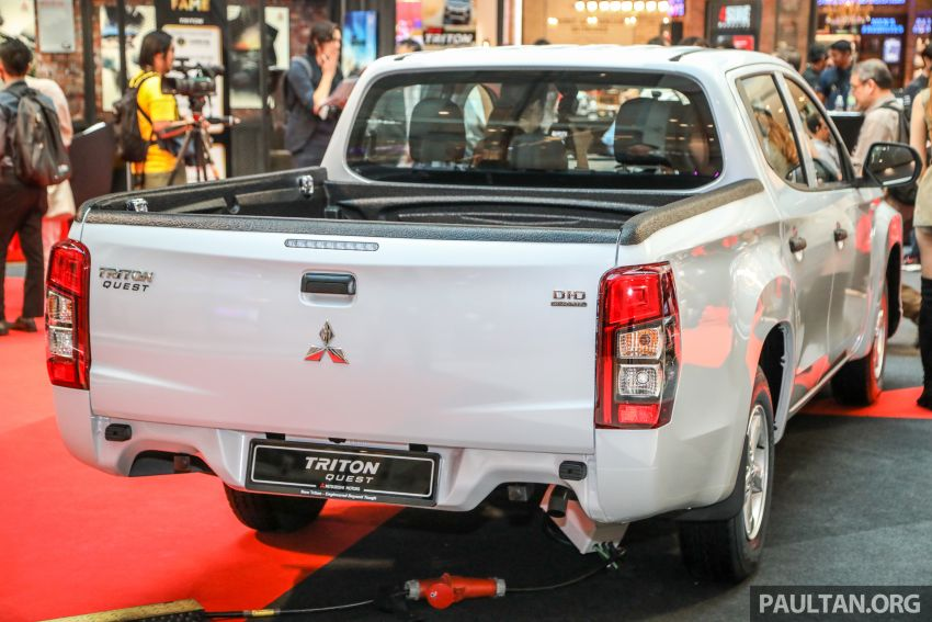 Mitsubishi Triton Quest facelift launched in Malaysia – low rider 4×2 workhorse gets Dynamic Shield, RM80k Image #1046311