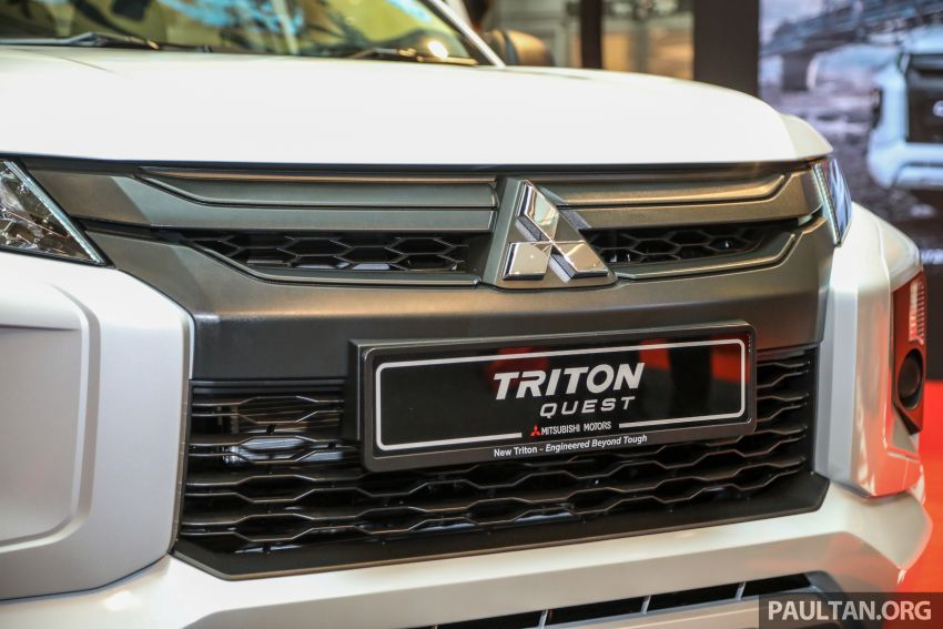Mitsubishi Triton Quest facelift launched in Malaysia – low rider 4×2 workhorse gets Dynamic Shield, RM80k Image #1046315