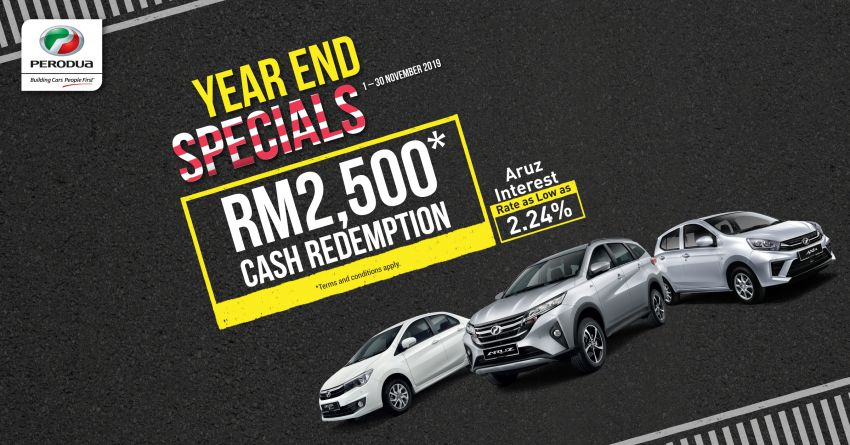 AD: Enjoy savings of up to RM2,500 and interest rates as low as 2.24% with Perodua's Year End Specials! Image #1041856