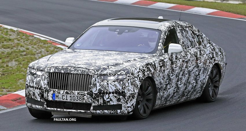 SPIED: Next Rolls-Royce Ghost goes track testing Image #1039957