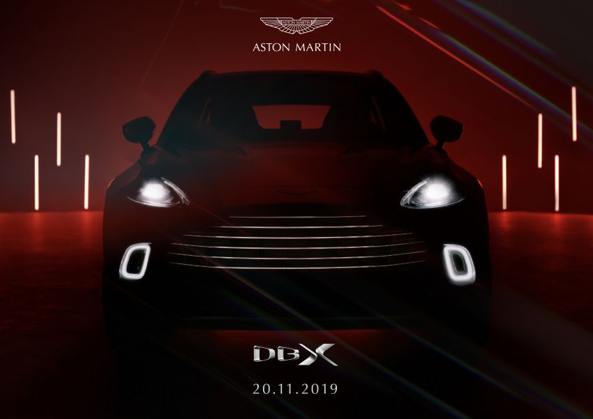 Aston Martin DBX to debut in Beijing on November 20 Image #1041773