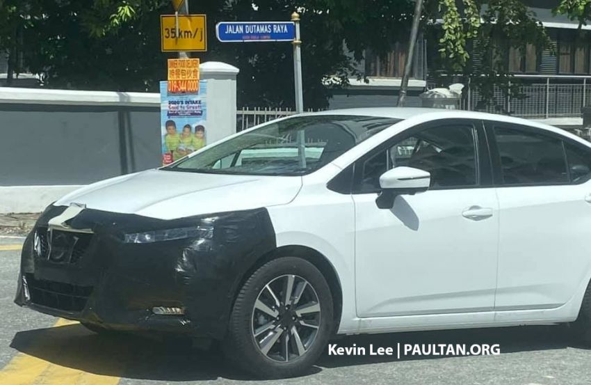 SPYSHOTS: 2020 Nissan Almera spotted in Malaysia Image #1055484