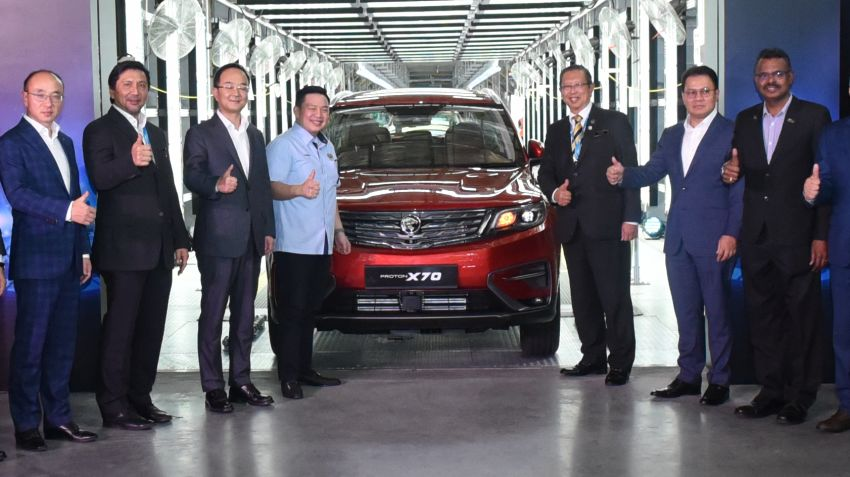 2020 Proton X70 CKD rolls out of Tanjung Malim plant – launch soon, right-hand drive exports planned Image #1059825