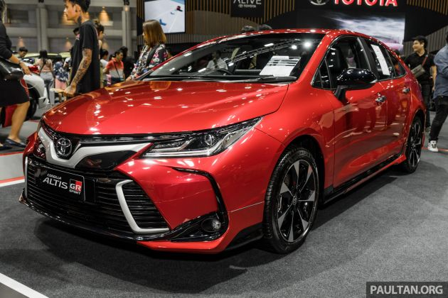 gallery  2019 toyota corolla altis gr sport on show at thailand motor expo