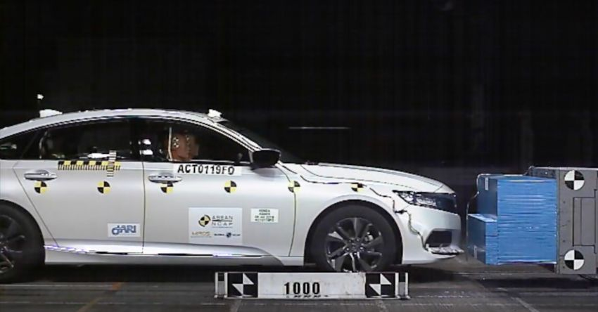 ASEAN NCAP: 2019 Honda Accord scores five stars; five-star rating in AOP, COP – see the crash test video Image #1054486