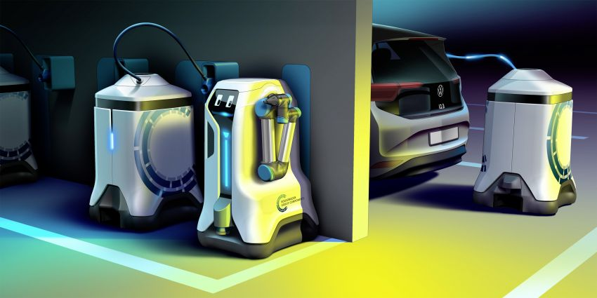 Volkswagen develops mobile robot to charge your EV Image #1063321