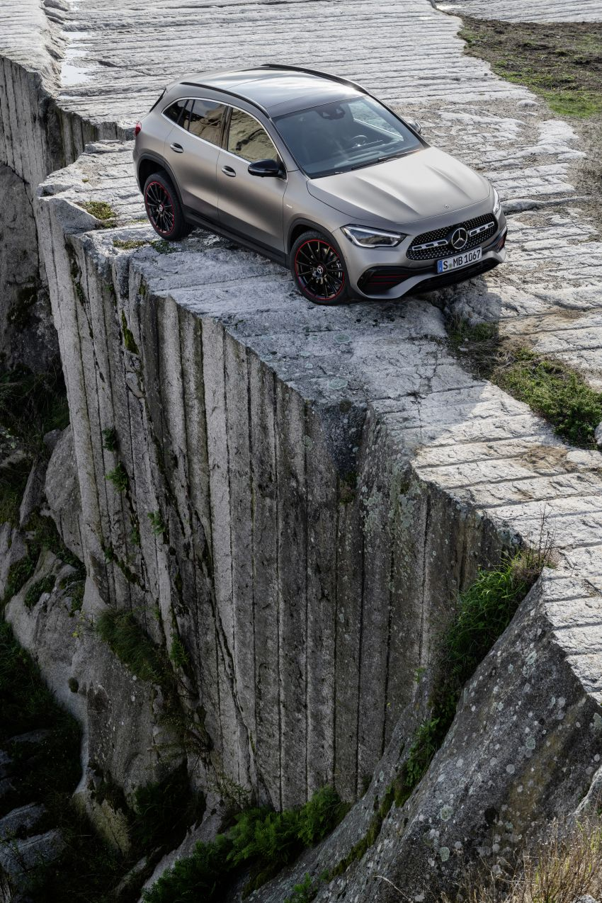 H247 Mercedes-Benz GLA revealed – BMW X2 rival grows taller and receives new tech and engines Image #1058611