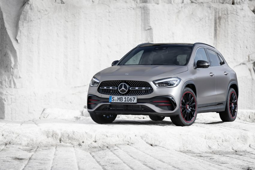 H247 Mercedes-Benz GLA revealed – BMW X2 rival grows taller and receives new tech and engines Image #1058613