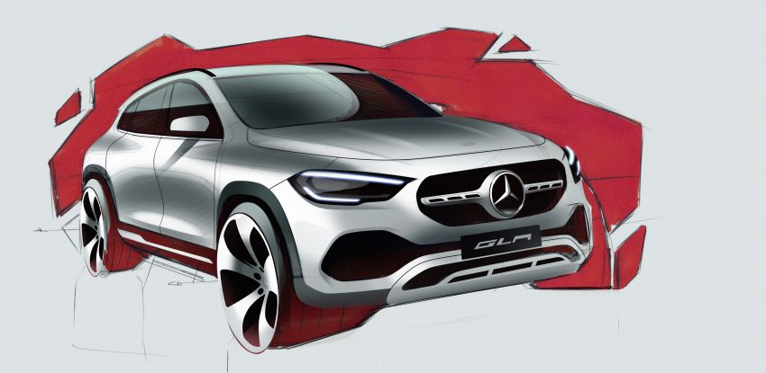 H247 Mercedes-Benz GLA revealed – BMW X2 rival grows taller and receives new tech and engines Image #1058647