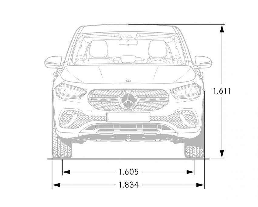 H247 Mercedes-Benz GLA revealed – BMW X2 rival grows taller and receives new tech and engines Image #1058648