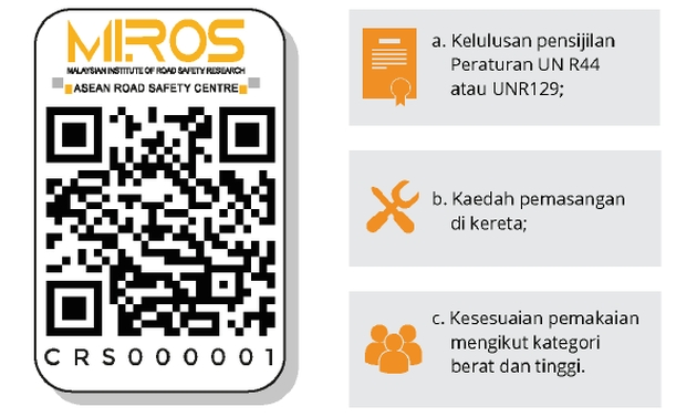 MIROS releases guidelines for child car seats, to issue QR code label for all products sold in the market Image #1054662