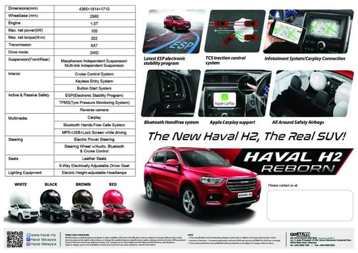 2020 Haval H2 facelift to be launched in Malaysia soon – two variants listed; 1.5L turbo engine; from RM87k Image #1071012