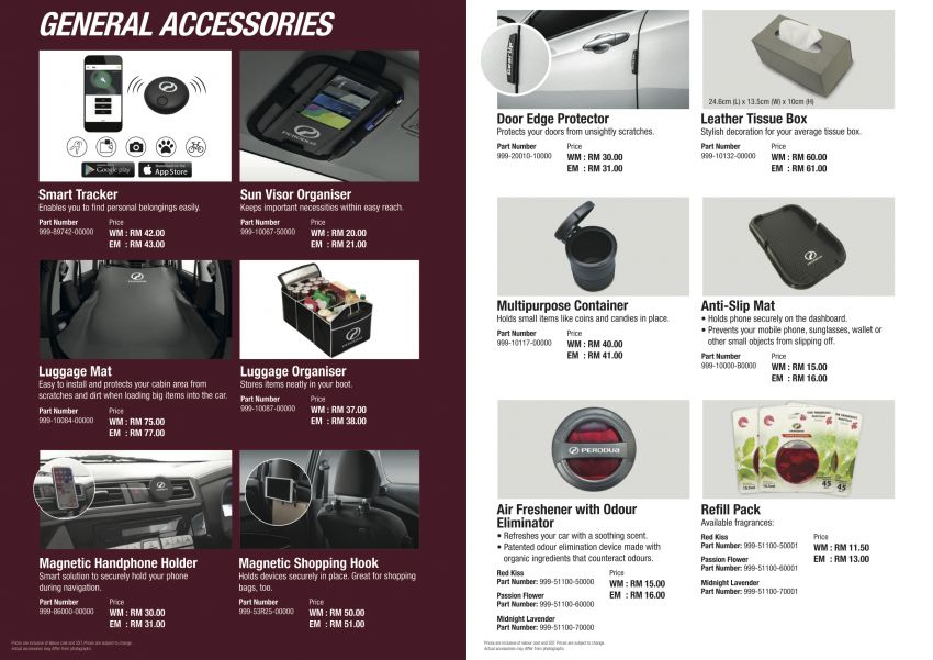 2020 Perodua Bezza GearUp accessories – full bodykit with LED light guides, seat covers, arm rest and more Image #1066019